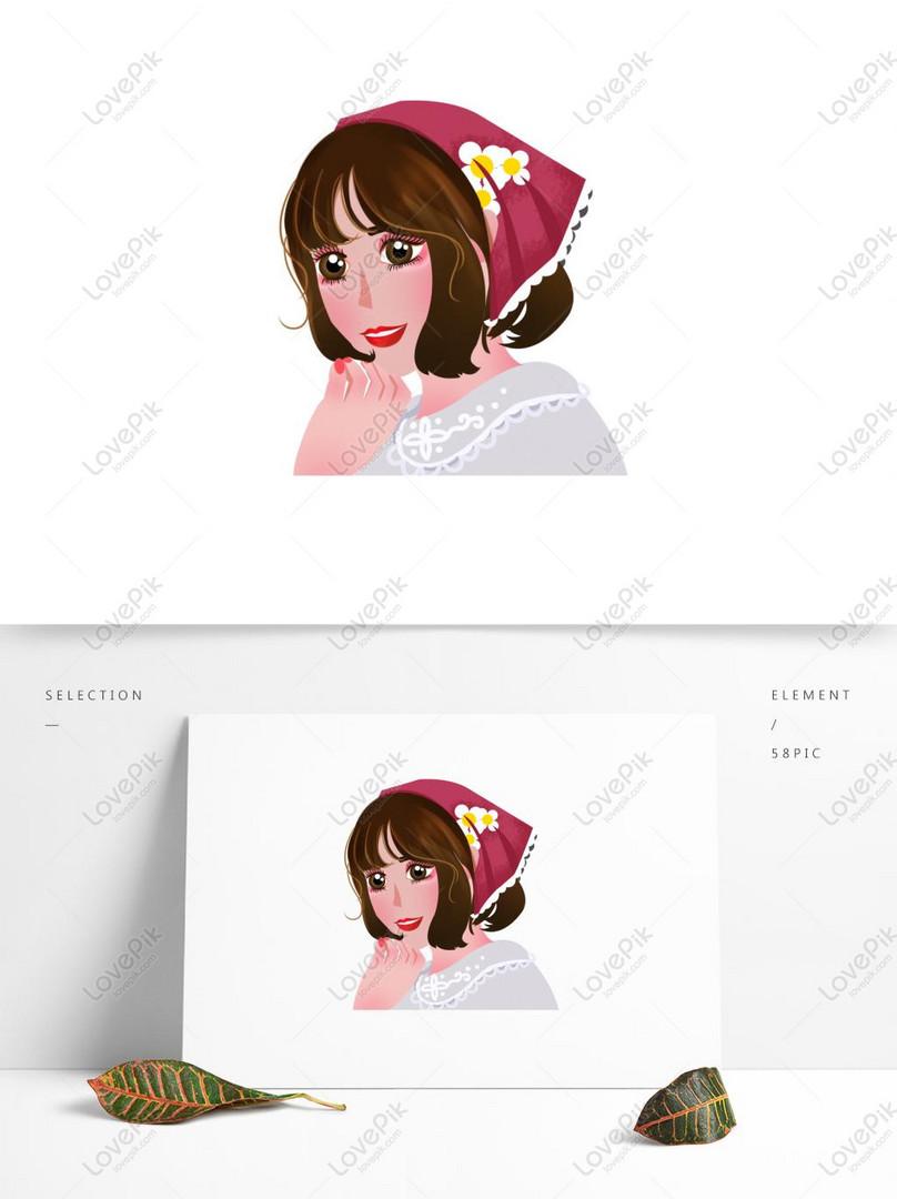 Smiling Big Eyes Beautiful Girl Cartoon Element Psd Images Free Download 1369 1024 Px Lovepik Id 732473290