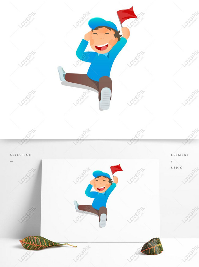 Karakter Kartun Pekerja Bersemangat Memegang Bendera Gambar Unduh Gratis Grafik 732476317 Format Gambar Psd Lovepik Com