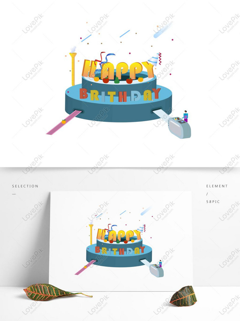 happy birthday english alphabet font creative design