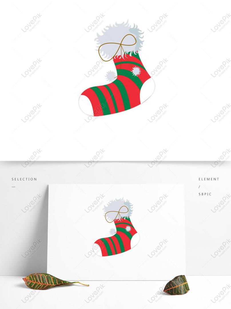 Meia De Natal Bonito Dos Desenhos Animados Imagem