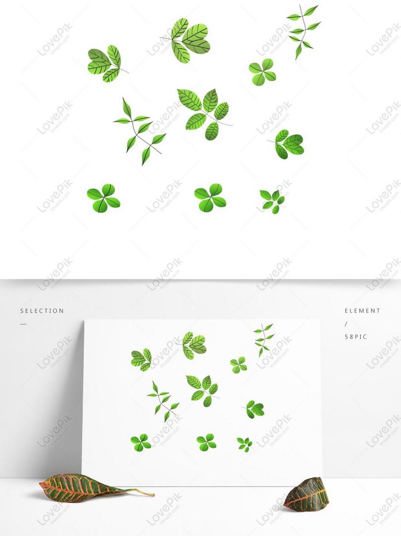 Lovepik صورة Psd 732516437 Id الرسومات بحث صور 3d الأوراق الخضراء أوراق الربيع أوراق الشجر الأوراق الخضرا