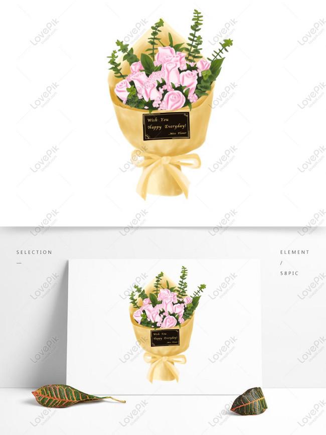Cat Air Yang Dilukis Dengan Tangan Merah Muda Bunga Mawar Bahan Gambar Unduh Gratis Grafik 732563912 Format Gambar Psd Lovepik Com