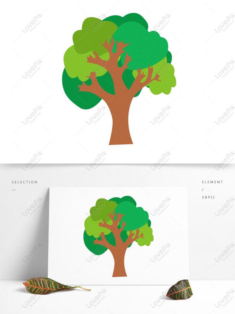 Kraf Kartun Tangan Tangan Pokok Pokok Asli Gambar Unduh