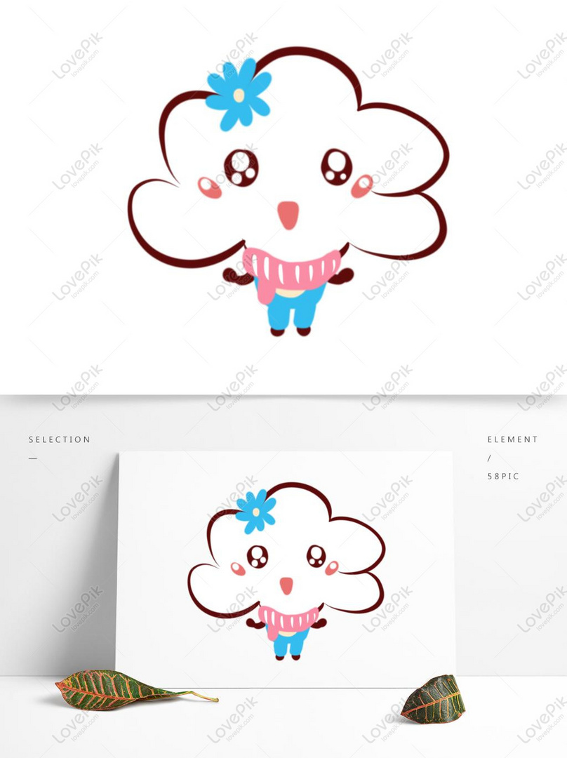 Hand Drawn Clouds Cute Cartoon White Clouds PSD Images Free