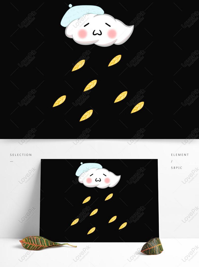 Sosok Tongkat Wajah Imut Yang Dilukis Dengan Tangan Kartun
