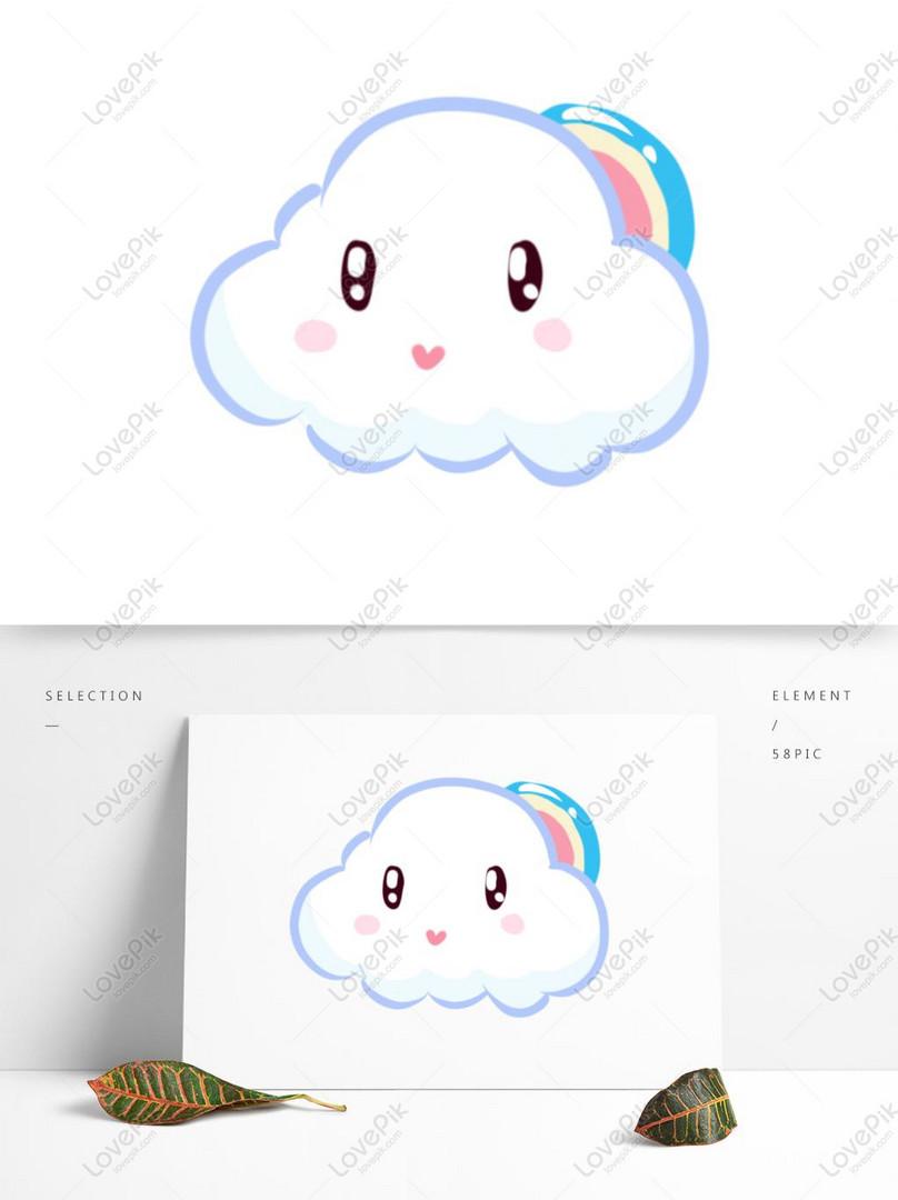 Cartoon White Clouds Hand Drawn Cute Cartoon Clouds PSD
