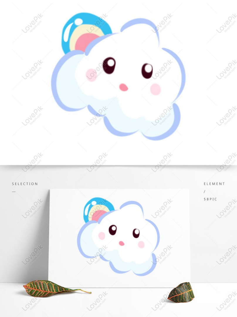 Cartoon White Clouds Hand Drawn Cute Cartoon Clouds Psd Images Free Download 1369 1024 Px Lovepik Id 732713929