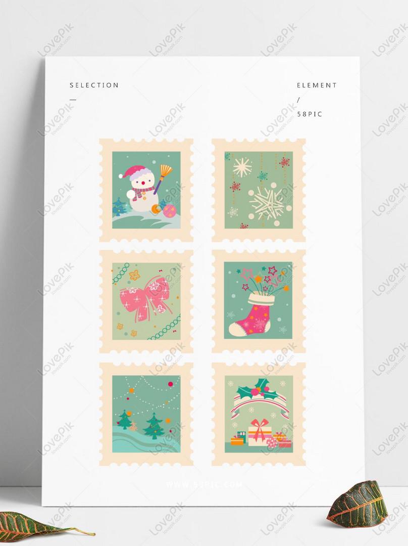 Sticker set winter lover