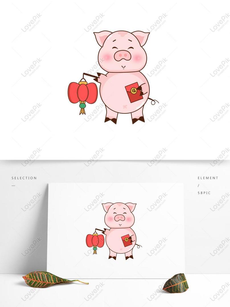 Kartun Babi Babi Lucu Babi Yang Dilukis Dengan Tangan