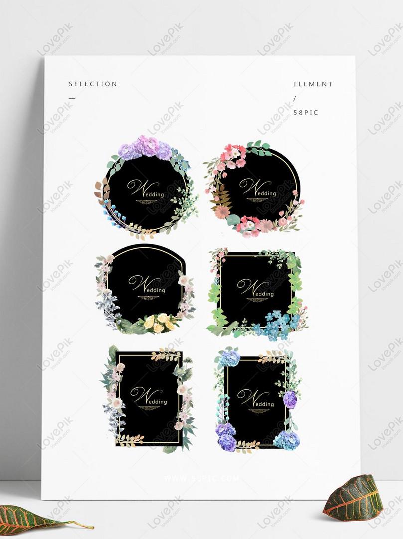 hand painted flowers european wedding invitation card beautiful