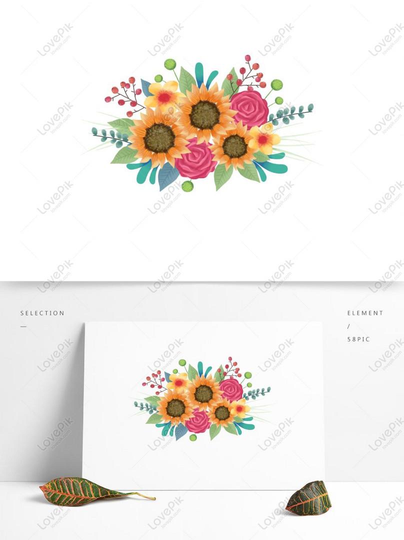 25 Gambar Kartun Buket Bunga Gambar Kartun Hd