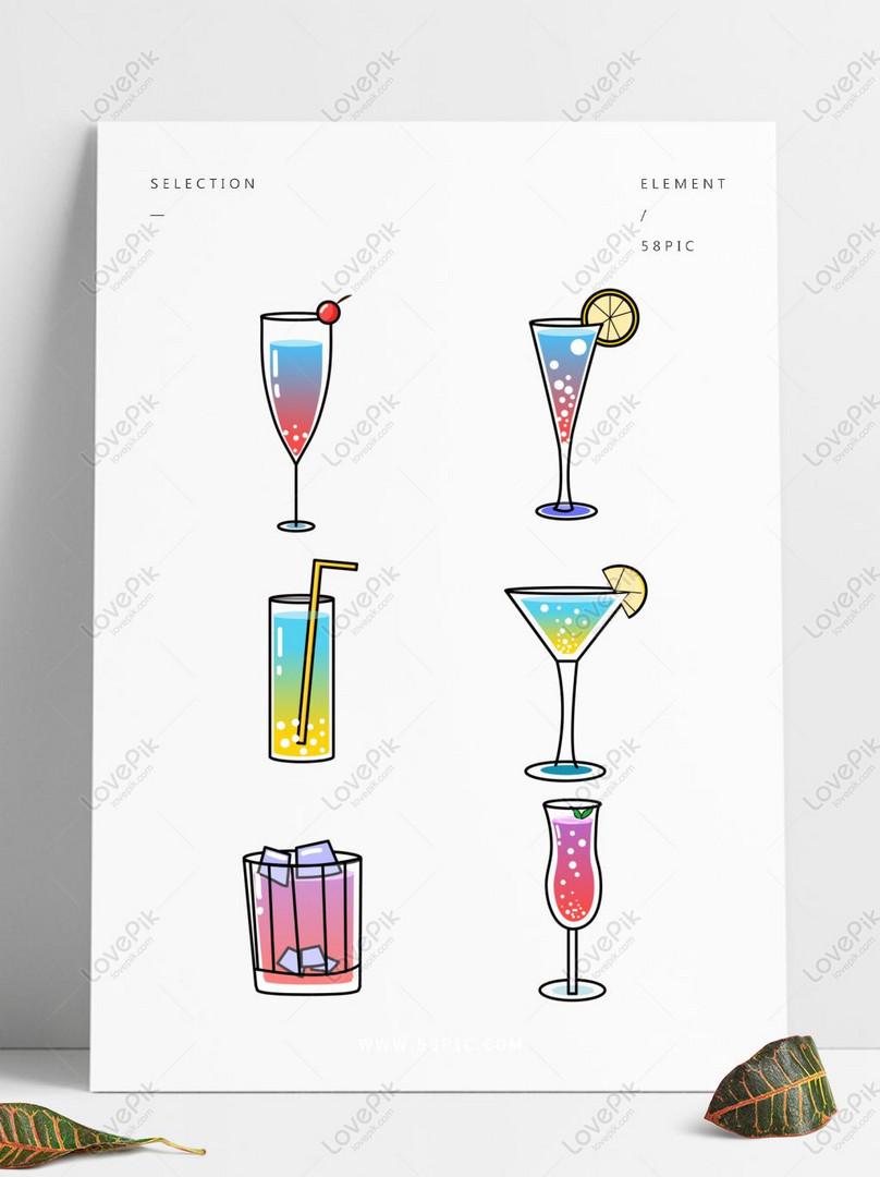 Kartun Vektor Makanan Minuman Minuman Anggur Gambar Unduh Gratis
