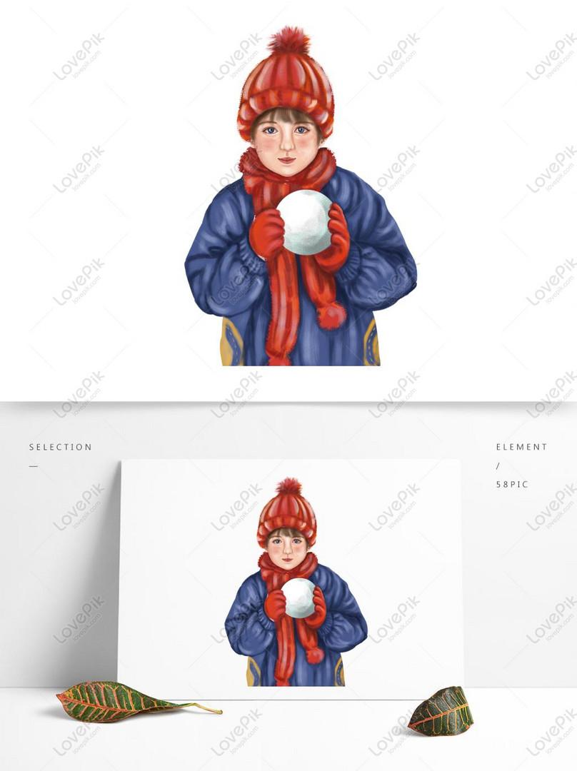 Küçük çocuk Bir Kardan Adam Boyama Resimgrafik Numarası