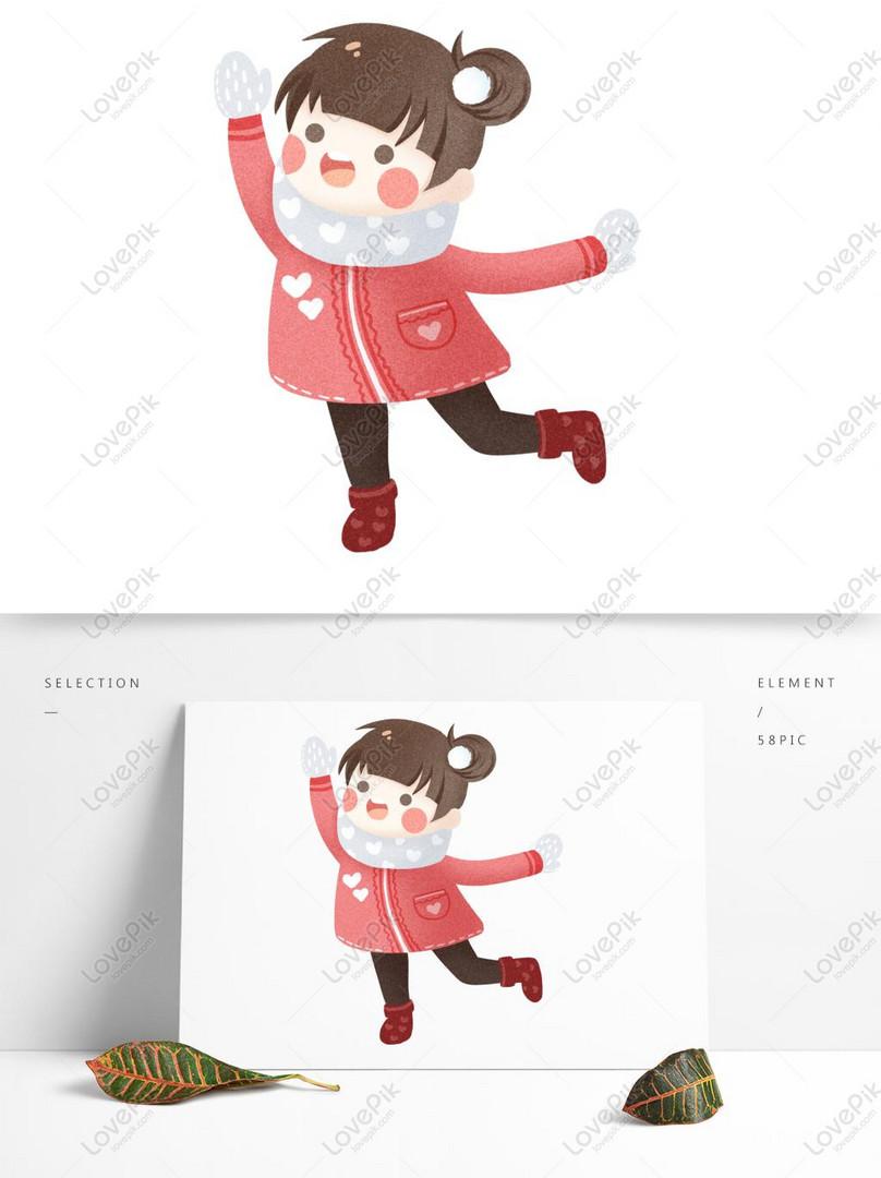 Kartun Lucu Desain Karakter Gadis Tertawa Tertawa Gambar