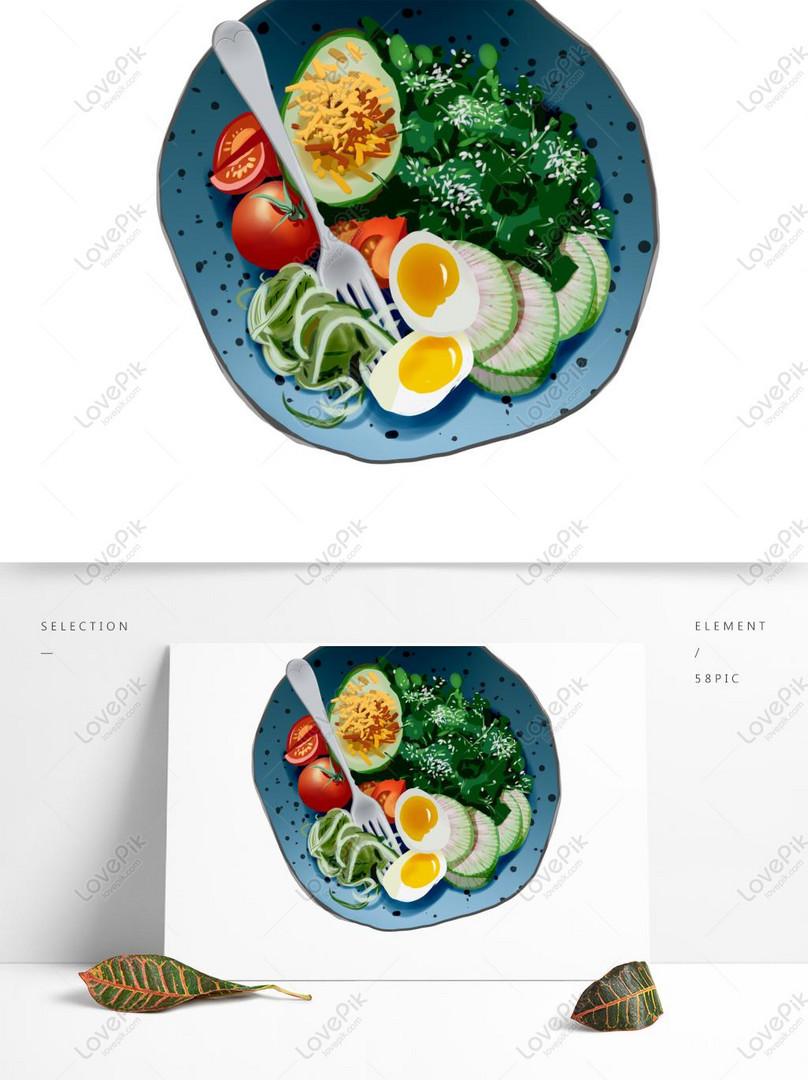 Gourmet Nutrición Elemento Vegetariano Diseño De Dibujos