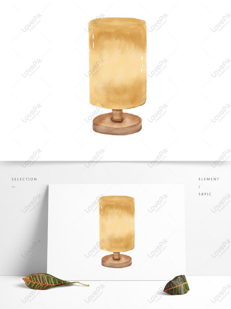Watercolor style simple table lamp fresh hand painted daily