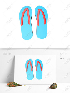 978e1d85003 Blue summer flip-flop illustration Larawan Numero ng Graphics ...