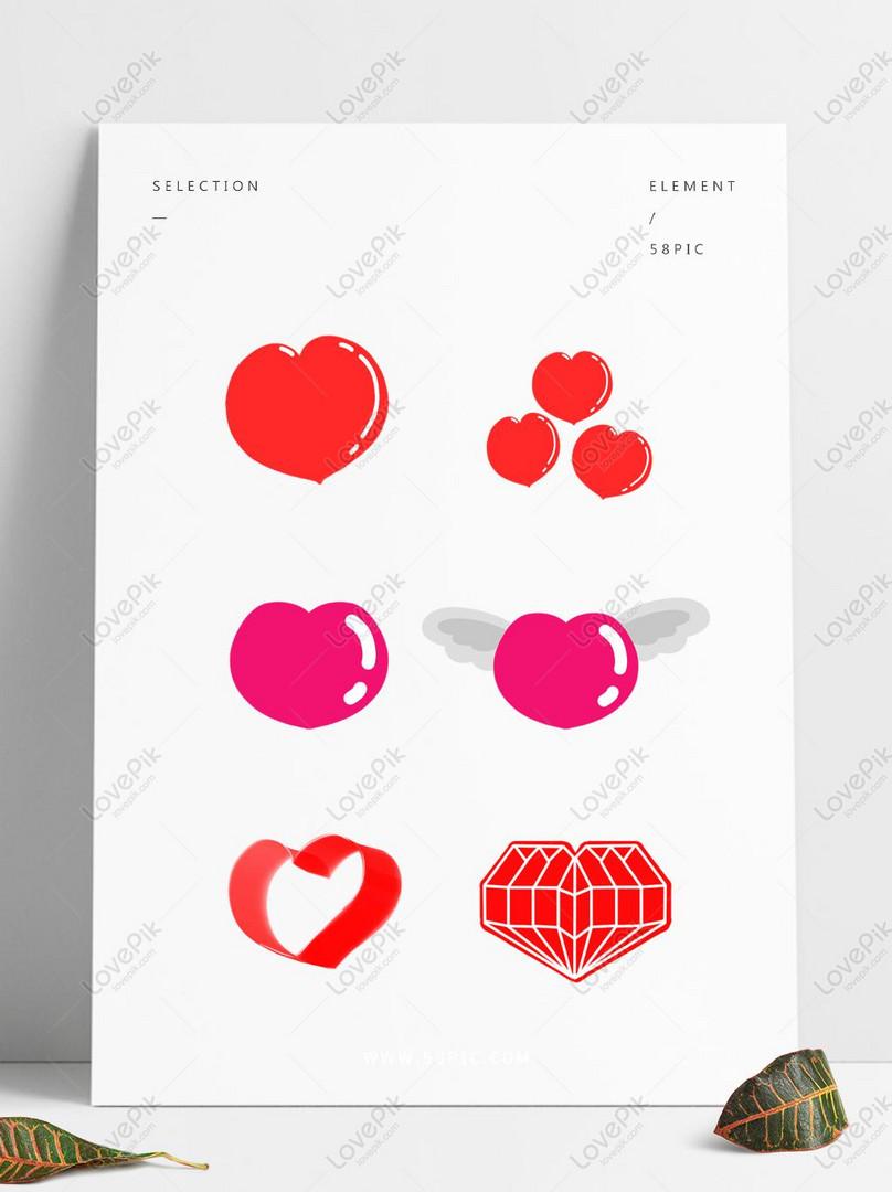 Koleksi Bahan Bahan Kreatif Asli Lucu Hari Valentine Cinta