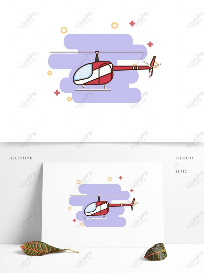 Bahan Helikopter Kartun Vektor Asli Kendaraan Tersedia Untuk