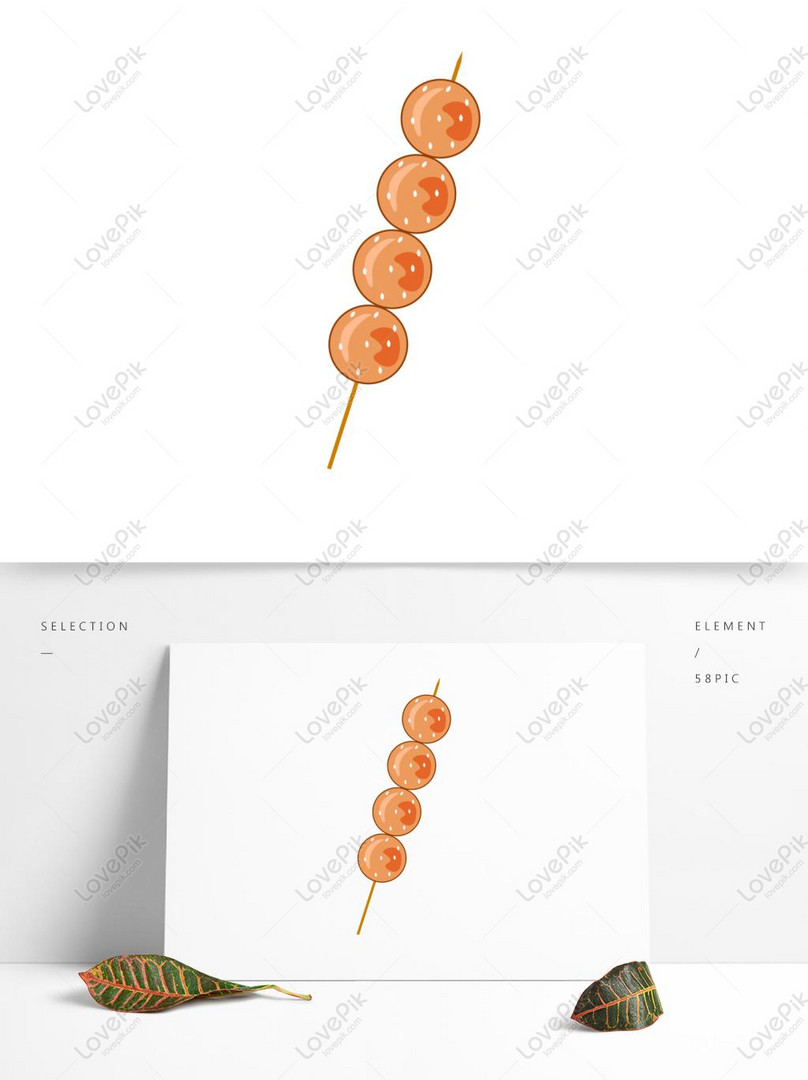 food elements barbecue meatballs commercial vector hand drawn wi
