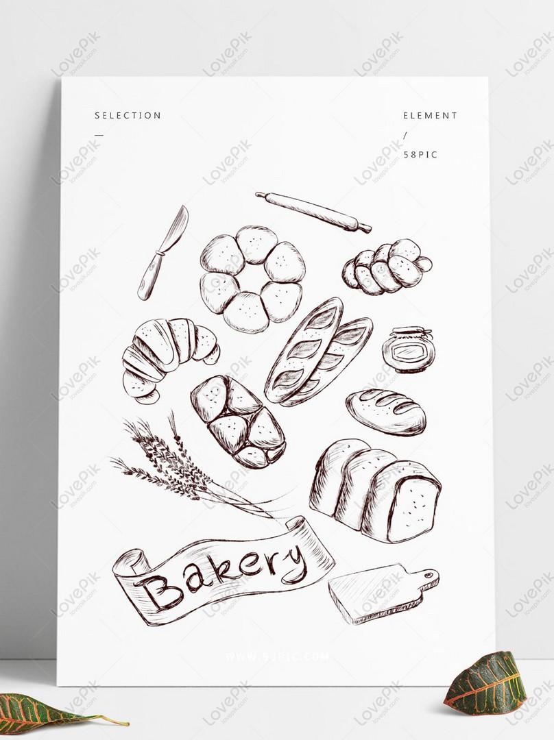 Garis Garam Roti Garis A Minimalis Yang Dilukis Tangan