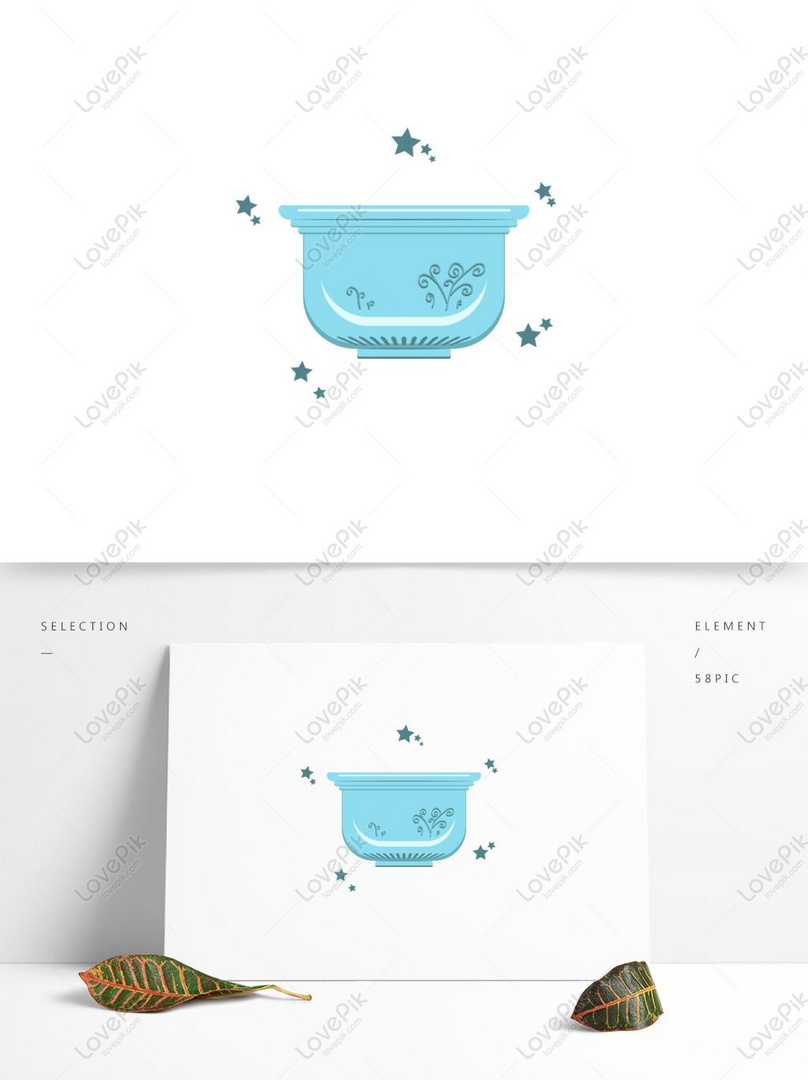 design elements daily necessities flower pots commercial