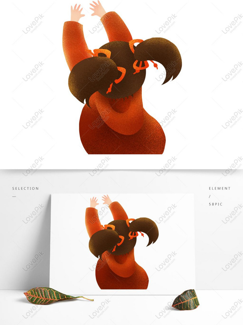 Incredible Hand Drawn Little Girl With Twin Ponytails Psd Images Free Natural Hairstyles Runnerswayorg