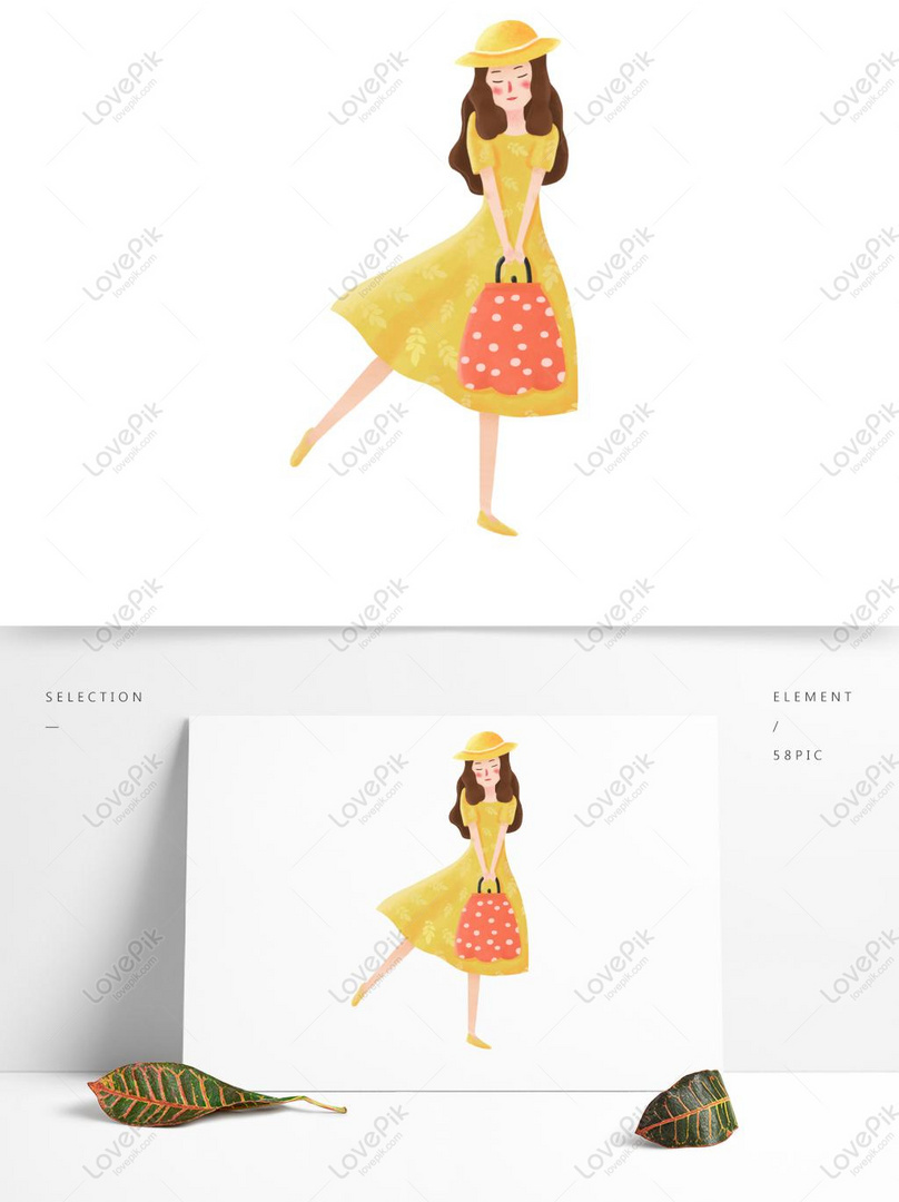 Cartoon Fashion Girl Pattern Elements Psd Images Free Download 1369 1024 Px Lovepik Id 733481126