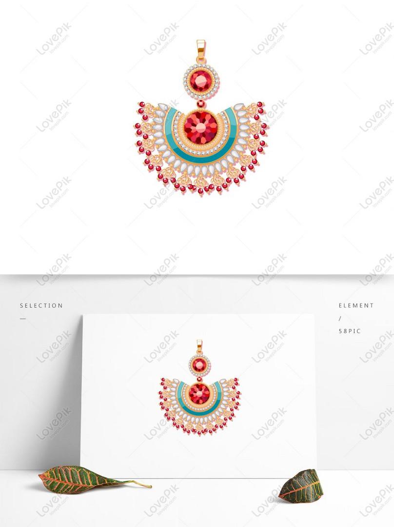 Bahan Hiasan Perhiasan Yang Cantik Gambar Unduh Gratis Imej