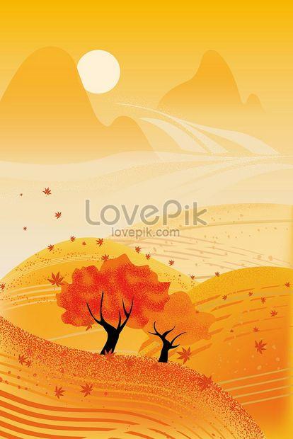 foto de Photo de illustration de léquinoxe dautomne vent plat doré feuille ...
