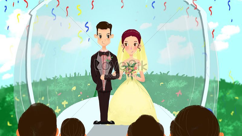wedding scene bride and groom png