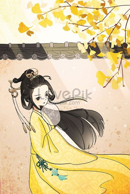 ancient ginkgo deciduous girl png