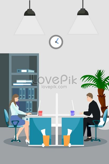 cartoon work office worker illustration png