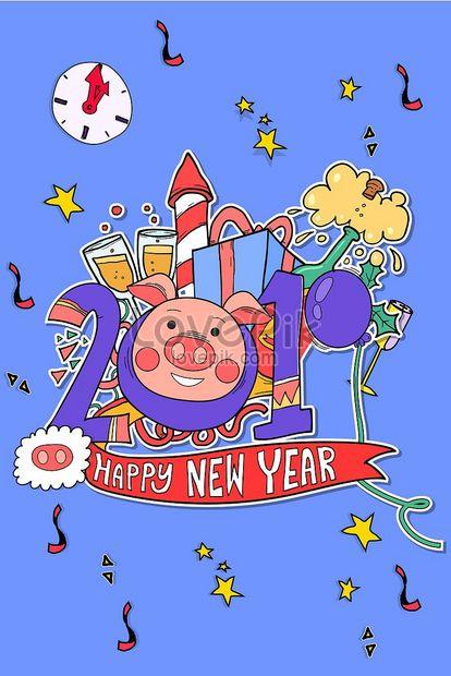 Happy New Year Kartun 88