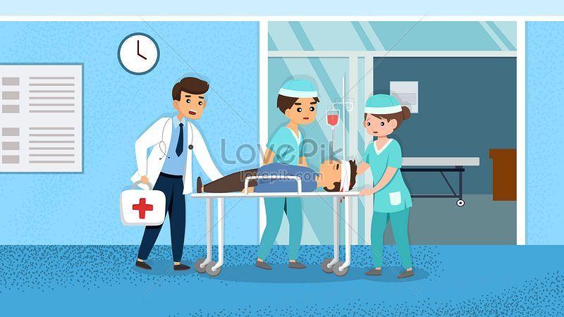 Dibujos Animados Personal Médico Hospital Salud Médica