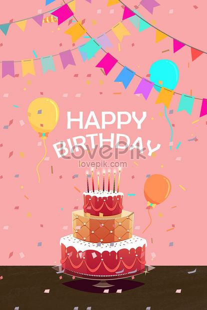 Happy Birthday Birthday Cake Illustration Image Picture Free Download 630021129 Lovepik Com