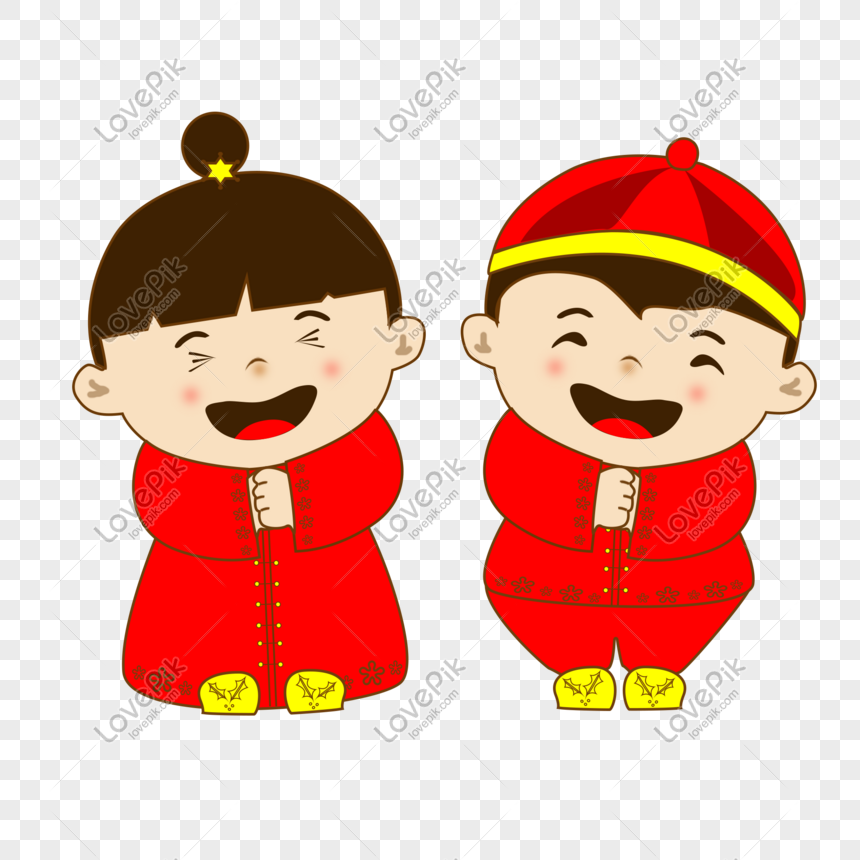 Cartoon Cute Festive Boy And Girl Png Image Picture Free Download 649766091 Lovepik Com