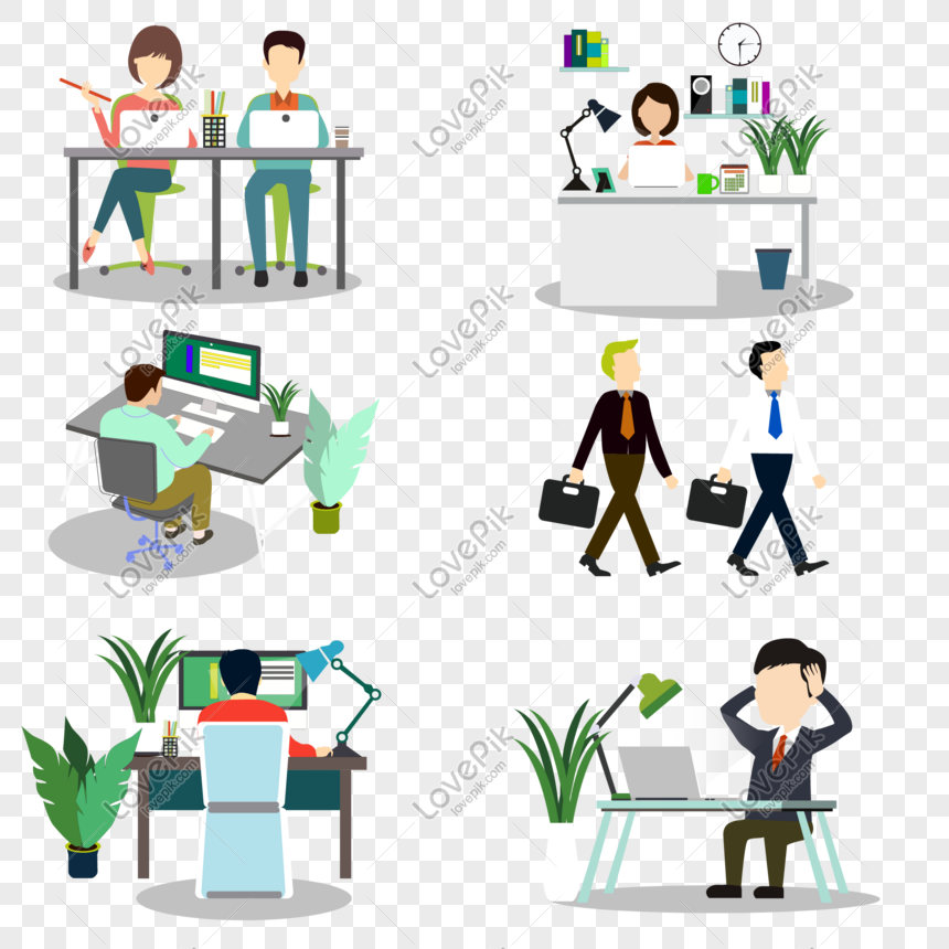 Office Man Clipart Clip Art - Office Worker Clipart Transparent, HD Png  Download - kindpng