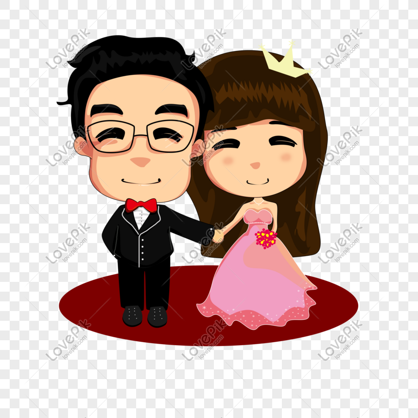 Cartoon Cute Boy Girl Wedding Png Image Picture Free Download 649833334 Lovepik Com