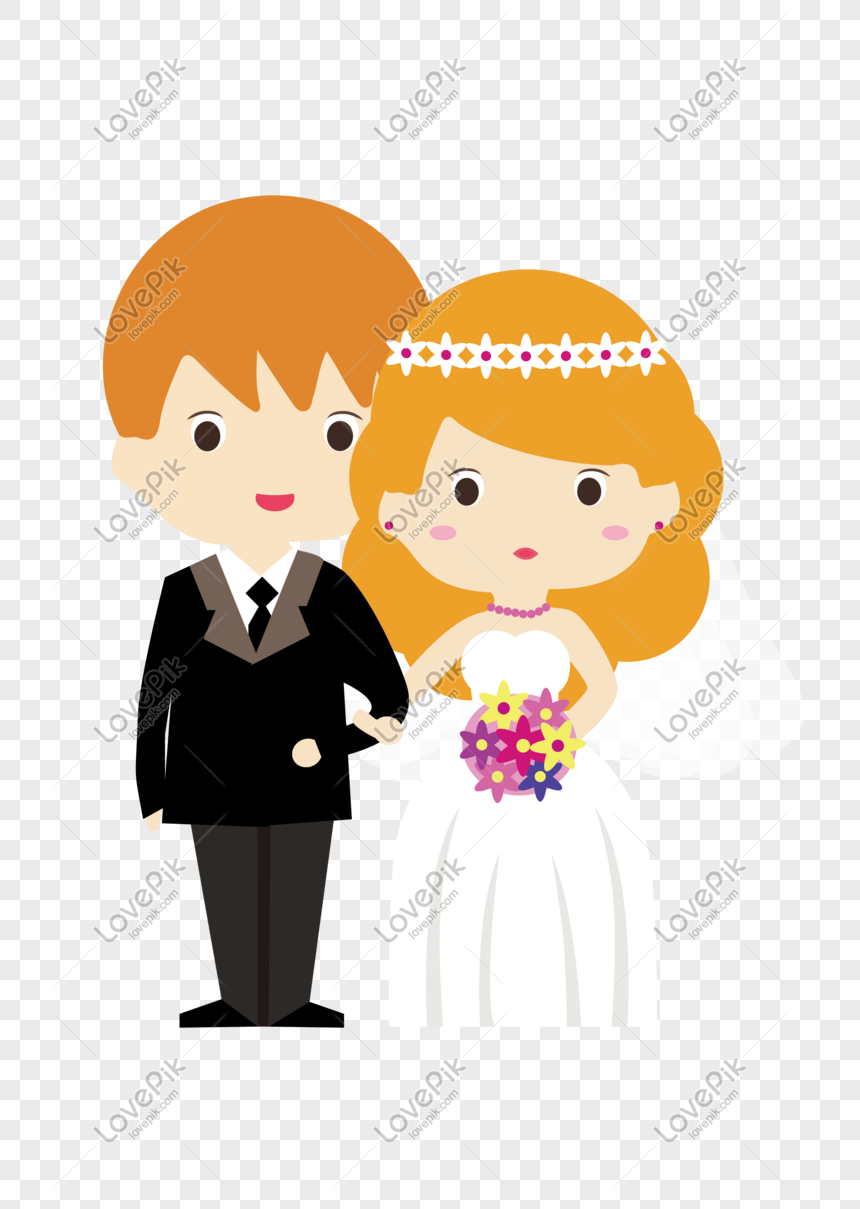Hari Valentine Flat Groom Bridal Undangan Pernikahan
