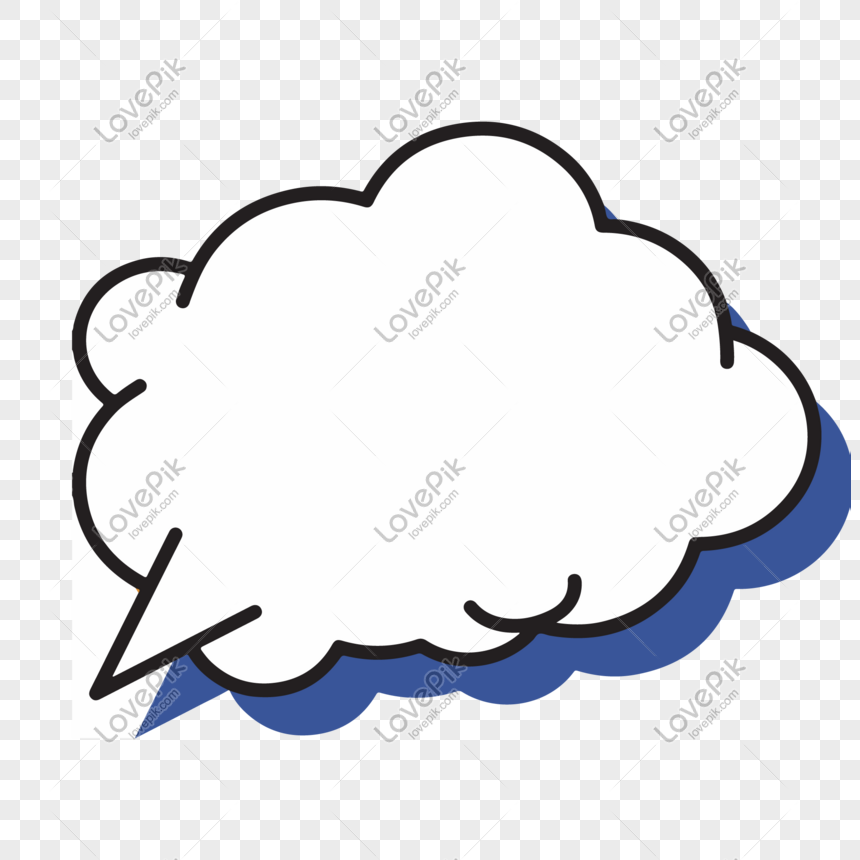 Cloud type cute speech bubble png image_picture free