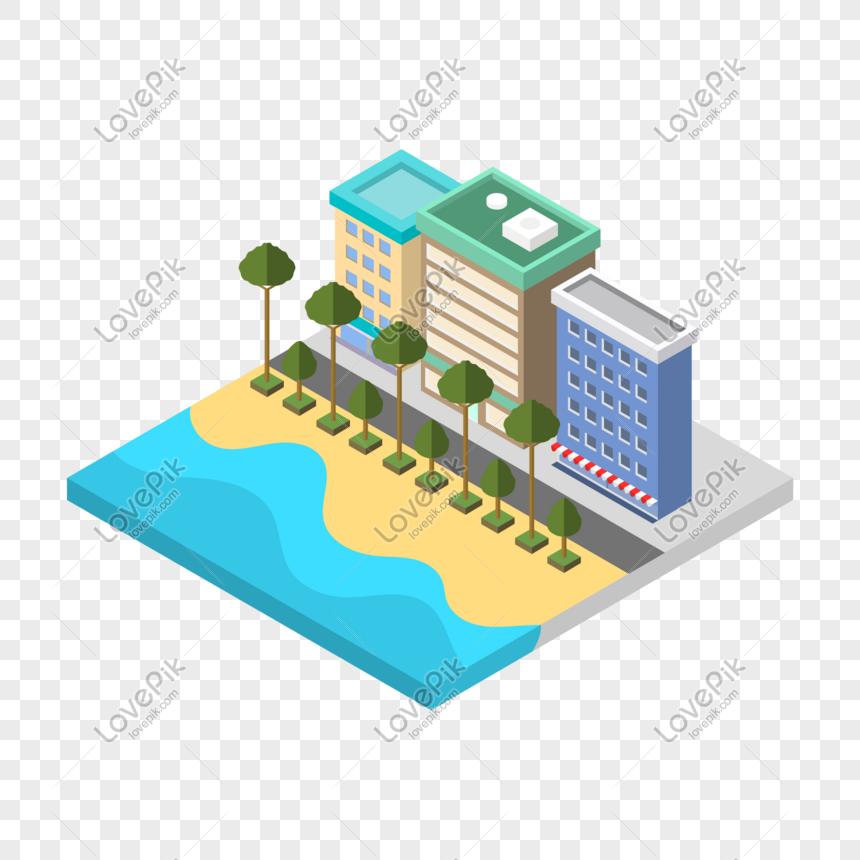 minh họa hình ảnh vector xây dựng đường phố 2d Hình ảnh