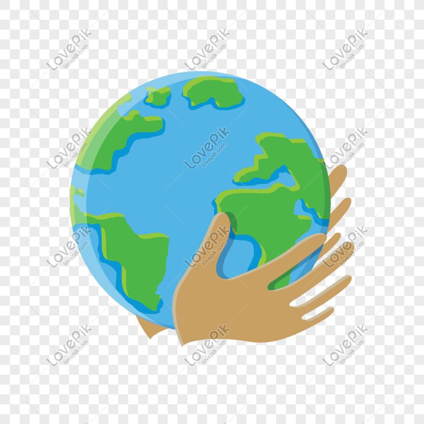 Imagen Vectorial De Día De La Tierra Del Mundo De Dibujos Animad