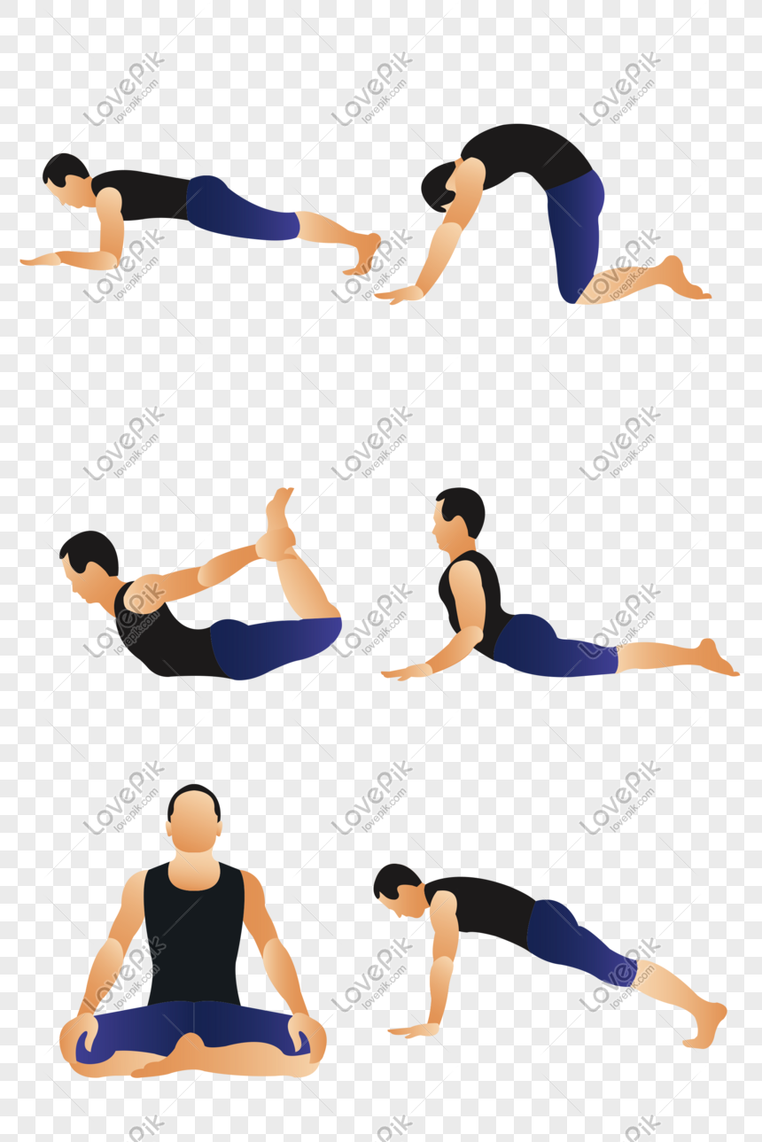 Vector Flat Yoga Man Free 抠png Png Image Picture Free Download 610221457 Lovepik Com