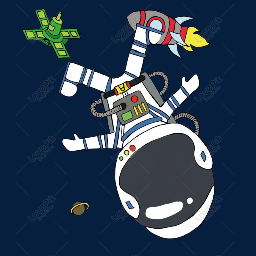 55 Gambar Kartun Lucu Astronot HD Terbaik
