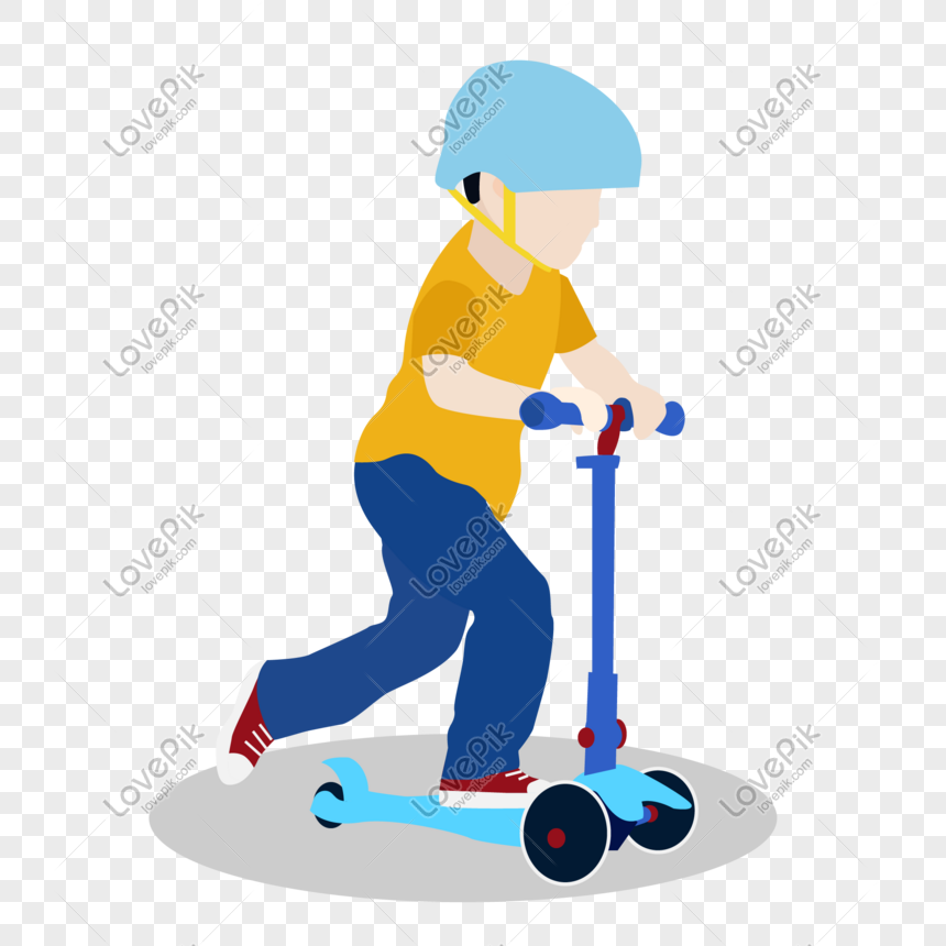 kids playing scooter vector material png image picture free download 610284805 lovepik com kids playing scooter vector material