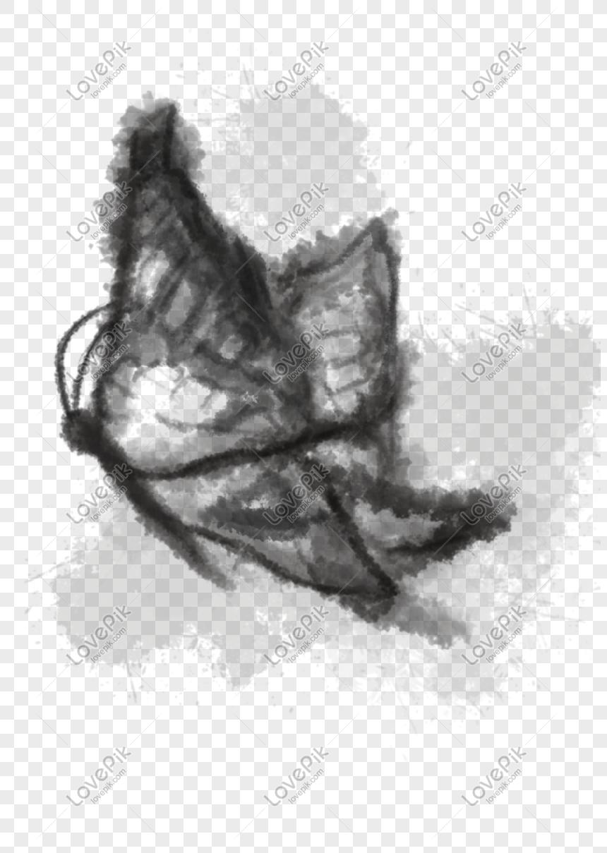 Ink Cina Rama Rama Lukisan Png Ditarik Tangan Gambar Unduh Gratis Imej 610306782 Format Psd My Lovepik Com