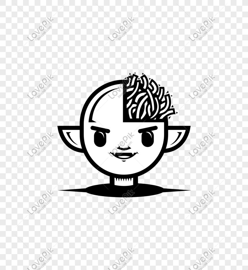 Halloween Hitam Dan Putih Lucu Vektor Trend Manusia Kartun Gambar Unduh Gratis Imej 610300870 Format Psd My Lovepik Com