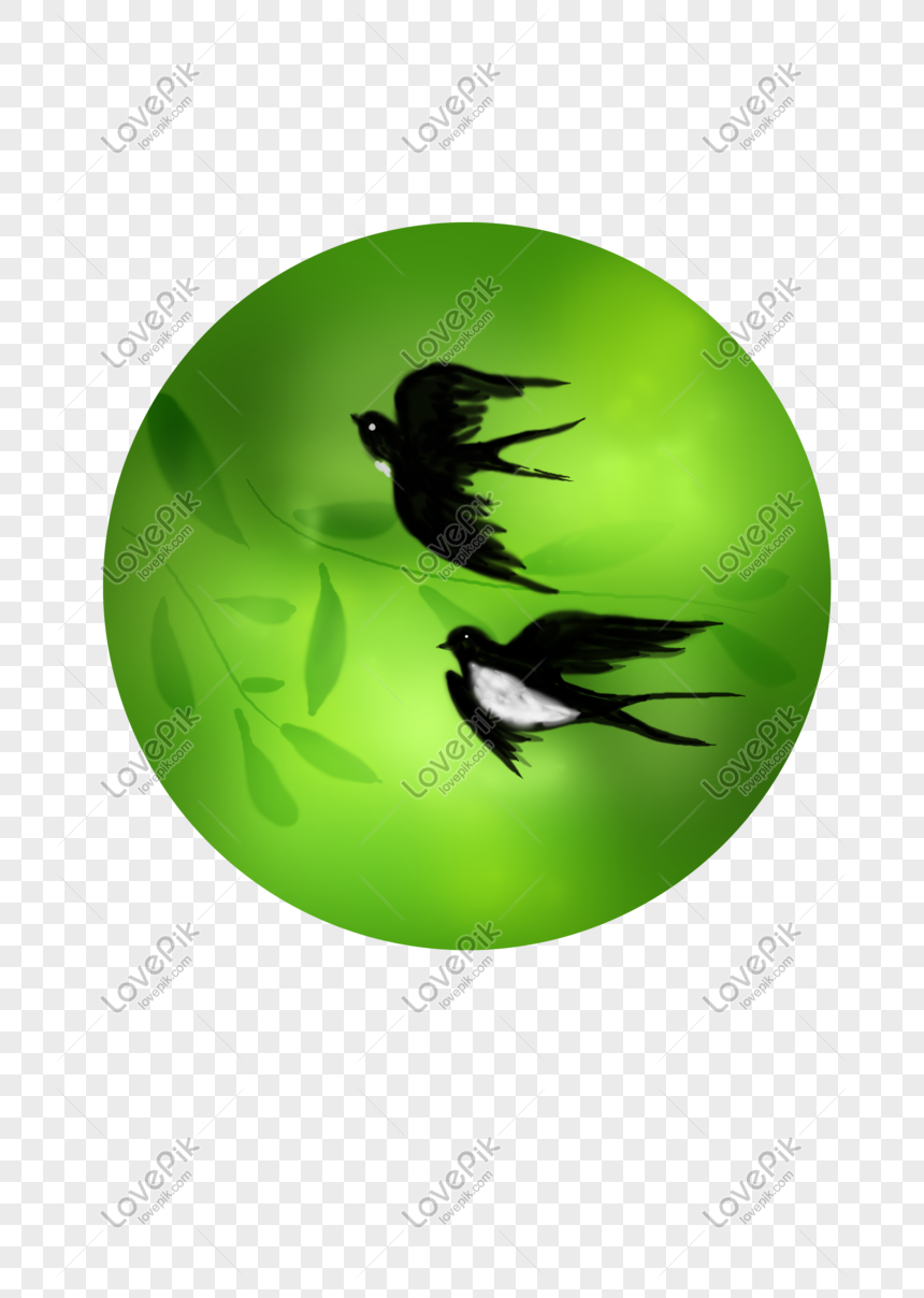 chinese ink hand painted swallow png