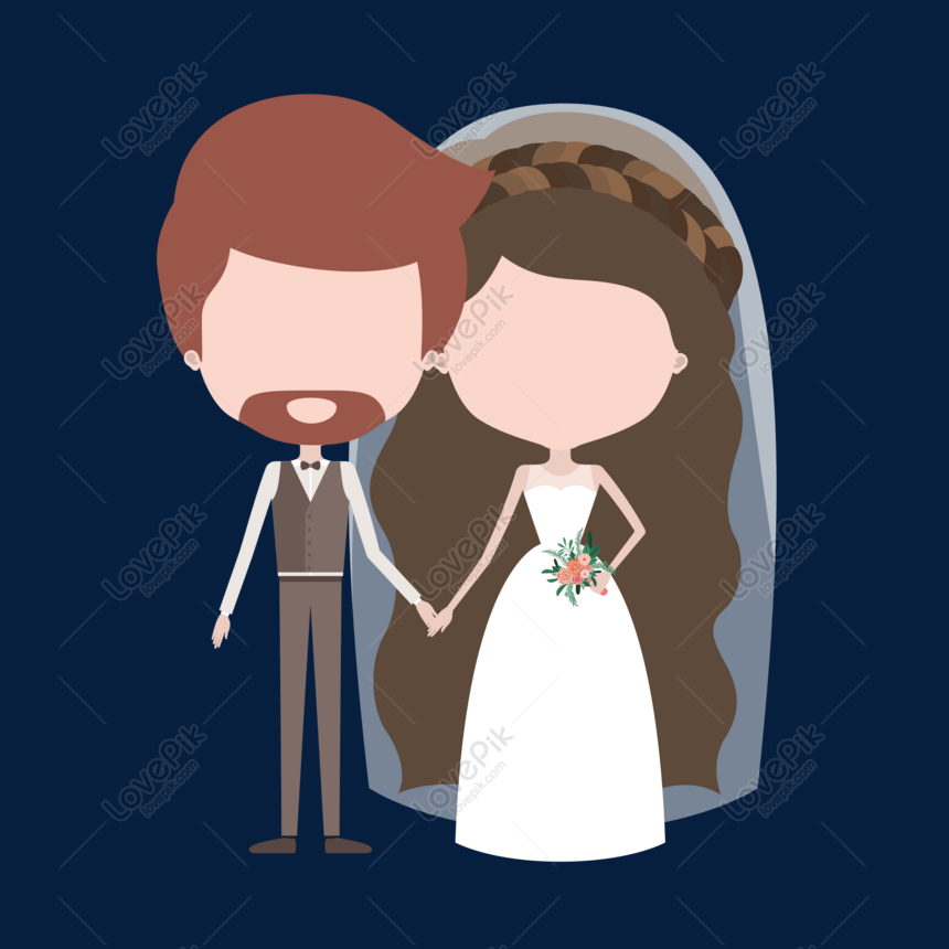 Kartun Berkahwin Pengantin Bahan Vektor Pengantin Gambar Unduh